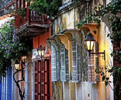 Street in Cartagena, Colombia. Places Around The World, The Places Youll Go, Places To See, Around The Worlds, Costa Rica, Wonderful Places, Beautiful Places, Beautiful Streets, Beautiful Scenery