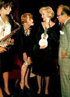 """Momentos que han dejado marca: Marilyn Monroe en 1959. Protagoniza la gran película """"Con faldas y a lo loco""""."""