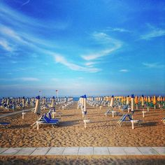 Rimini Beach. Everything in order - beach time! - Instagram by backpackersteve