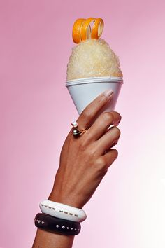 As an end-of-summer treat, we decided to combine two of our favorite iced-out treats: snow cones (provided by Clean Shave Ice) and bling. Mouth-watering, right? See all the photos and details on the jewelry worn. Baguette, Dior Ring, Kimberly Mcdonald, Ice Cream Theme, Jewelry Editorial, Snow Cones, Ice Ice Baby, Aesthetic People, Jewelry Photography