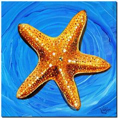 Star Fish Star Bright  Abstract Fish Art Artwork Paintings J Vincent Scarpace