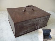Ancien Petit Coffre Fort Acier CLE Vers 1900 Fonctionne | eBay