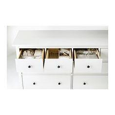 HEMNES Chest of 8 drawers - white stain - IKEA Freya room stroage