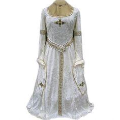 Vestido medieval ivory and gold - D-Gótico http://www.d-gotico.com/vestidos-de-novia/251-vestido-medieval-ivory-and-gold.html
