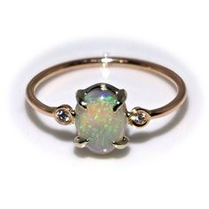 Hey, I found this really awesome Etsy listing at https://www.etsy.com/listing/214867065/14k-gold-opal-and-diamond-ring-opal