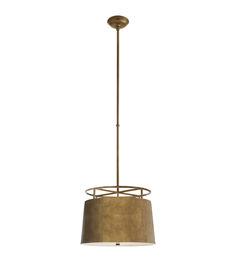 Visual Comfort CHC5095GI E. F. Chapman Bryden Medium Round Pendant in Gilded Iron