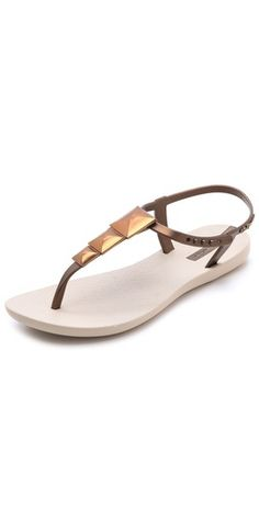 Ipanema Maya Studded Rubber Sandals. PERFECT for the beach since I despise flip flops