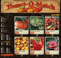 Find the Perfect Tomato -  a free online tool for finding the perfect tomato variety
