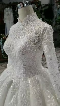 Luxury Muslim high neck lace up back wedding dresses. Processing time business day after payment . dresses muslim hijab bride veils Luxury Muslim high neck lace up back wedding dresses Queen Wedding Dress, Muslimah Wedding Dress, Muslim Wedding Dresses, Luxury Wedding Dress, Dream Wedding Dresses, High Neck Wedding Dresses, Muslim Brides, Wedding Hijab, Queen Dress