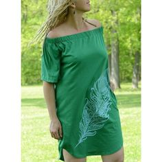 Limōn - Exclusive Women's Off-the-shoulder Green Midi Dress Vegan Clothing, Ethical Clothing, One Shoulder, Shoulder Dress, Cover Up, Feather, Clothes, Collection, Beautiful