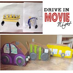 This. .. we have got to do!  Drive In Movie Night!  The kids would love it!
