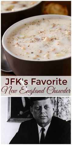JFK's Favorite New England Fish Chowder - Suppen & Eintöpfe - Soup Fish Recipes, Seafood Recipes, Soup Recipes, Cooking Recipes, Bread Recipes, Clam Chowder Recipes, Chowder Soup, Corn Chowder, Recipes