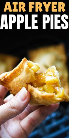 Air Fryer Recipes Dessert, Air Fryer Oven Recipes, Air Fry Recipes, Apple Recipes, Fried Apple Pies, Apple Hand Pies, Mini Apple Pies, Cooks Air Fryer, Cafeteria Food