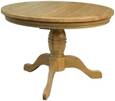 Welland solid oak dining room furniture round extending table with pedestal base