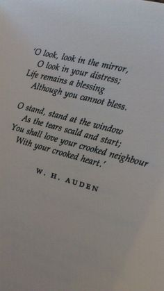 W.H. Auden: 'As I Walked Out One Evening'