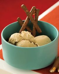 Guinness Ice Cream with Chocolate-Covered Pretzels