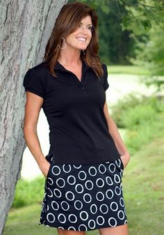 50% off Golftini Black Skort with White Rings | #Golf4Her