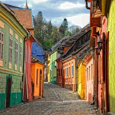 Sighisoara, Romania is a medieval fortified city in the historic region of Transylvania, listed as a UNESCO World Heritage Site. Beautiful Streets, Beautiful World, Beautiful Places, Amazing Places, The Places Youll Go, Places To See, Beau Site, Famous Castles, Belle Villa