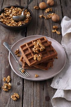 Diós gofri - Pasztellbarokk Pancakes, Breakfast, Dios, Waffles, Morning Coffee, Pancake, Crepes