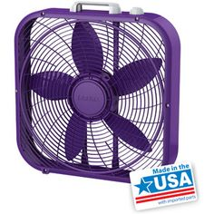 "20"" Box Fan, Purple"