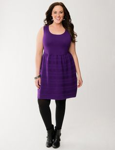 Plus Size Skater Dress by Lane Bryant | Lane Bryant
