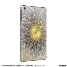 Flourish with Gold abstract and modern Fractal Art iPad Mini Retina Cover