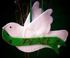 Felt dove ornament