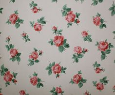 1940's Vintage Wallpaper Roses Roses Roses by HannahsTreasures, $14.00