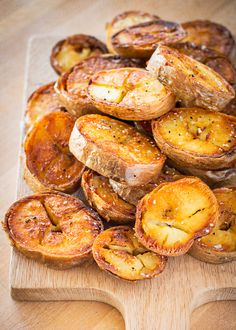 Baked Fried Potatoes - baking first ensures locked in flavor and frying provides a deliciously crunchy texture on the outside.