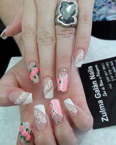Nail Decorations, Flower Nails, Toe Nails, Pedicure, Nail Designs, Nail Polish, Lily, Make Up, Floral