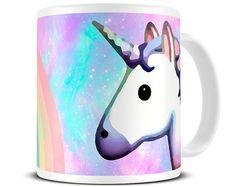 Licornes - arc en ciel Licorne Mug - Licorne cadeaux - Funny Mugs - jolis Mug - Licorne Emoji - cadeau pour son MG546 - tasse à café-