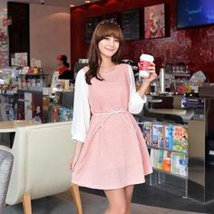 Buy 'CLICK – 3/4-Sleeve A-Line Dress with Cord' with Free International Shipping at YesStyle.com. Browse and shop for thousands of Asian fashion items from South Korea and more!