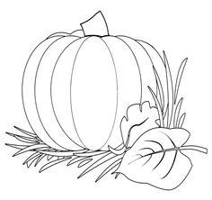 Pumpkin, fall coloring page.