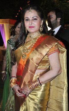 Jaya Prada at wedding reception of her son Siddharth. #Bollywood #Fashion #Style…