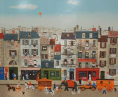 Untitled French Street Scene by Michel Delacroix