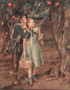 Dorothy. And the Scarecrow. Listening to the tree.The Wizard of Oz. '39.