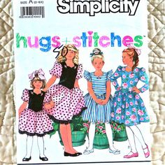 Simplicity 7077 Pattern for Girls, Party Dress, Sweetheart Neck, Full Skirt, 199 - Sewing Patterns