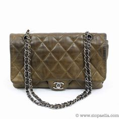 d74981132ffc5b Chanel Classic Brown Quilted Single Flap. Siopaella Designer Exchange