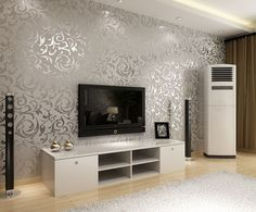 Silver Wallpaper Living Room   Pesquisa Google