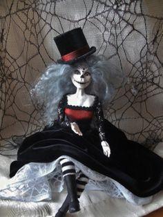 Day Of The Dead Art doll by Rita Dolan ADSG by RitaDolanArtDolls, $100.00