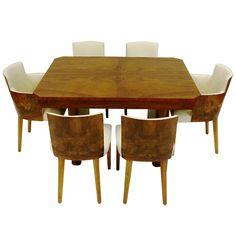 via BKLYN contessa :: art deco dining table + chairs