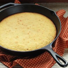 Buttermilk Cornbread Must have the cast iron skillet The only thing I change on this recipe is to heat the oil in the skillet before pouring in the batter so you will have a nice crust