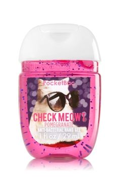 Check Meowt - PocketBac Sanitizing Hand Gel - Bath & Body Works - Now with more happy! Our NEW PocketBac is perfectly shaped for pockets & purses, making it easy to kill 99.9% of germs when you're on-the-go! New, skin-softening formula conditions with Aloe & Vitamin E to leave your hands feeling soft and clean.