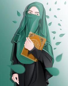 Cute and funny Hijaber Cartoons Love Cartoon Couple, Cartoon Girl Images, Cartoon Girl Drawing, Girl Cartoon, Cartoon Art, Arab Girls, Muslim Girls, Hijabi Girl, Girl Hijab