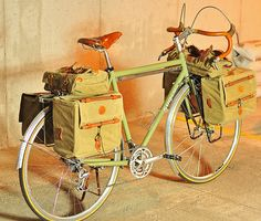 bicycle bags  I would add a seat on the handlebars for the girl