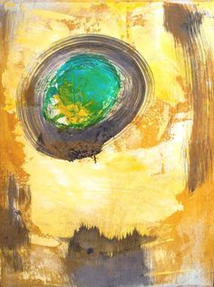 """""""The Last Day of Sun"""" Abstract expressionism painting by Artur Mloian"""