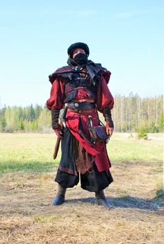 No, It's not cosplay. It was made for a swedish larp. But I did not have time to finish the gear. So I will make more this summer. And it's made from bones, leather, lots of different fabrics and m...