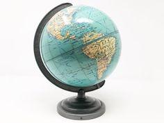 This item is unavailable Desk Globe, Map Globe, Chicago Heights, Aviation Decor, Post War Era, New York To Paris, World Globes, Short Waves, Vintage School