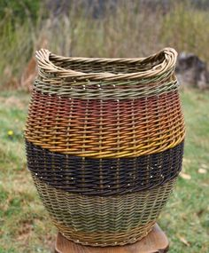 Large log basket barnabaun basketry