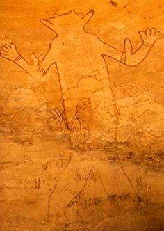 """The Great Fishing God of Sefar"", one of the oldest paintings on earth, Tamenrasset, Algeria"